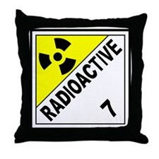Radioactive DOT 7 Throw Pillow