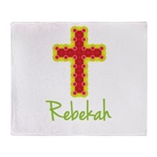 Rebekah Bubble Cross Throw Blanket