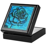 Aqua Rose Keepsake Box