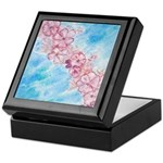 Cherry Blossoms Watercolor Keepsake Box