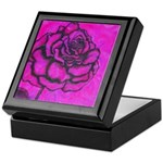 Magenta Rose Keepsake Box