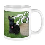 Dugan with Petunias Mug
