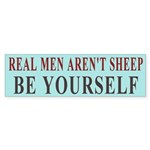 Real Men Aren't Sheep Bumper Sticker