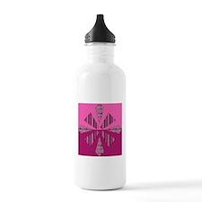 pink kaleidoscope Sports Water Bottle