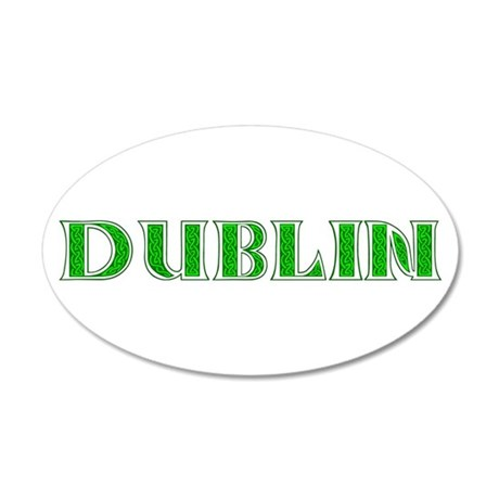 Dublin Ireland 38.5 x 24.5 Oval Wall Peel