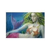 Maroon Mermaid Rectangle Magnet