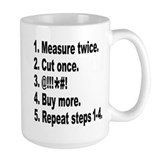 Measure twice, Cut once... Mug