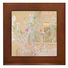 Shabby Chic Chandelier Framed Tile