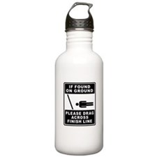 Drag Across Finish Line Water Bottle