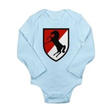 11th Armored Cavalry Long Sleeve Infant Bodysuit