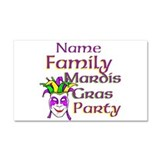 Customizable Mardi Gras Car Magnet 20 x 12