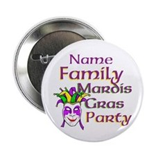 "Customizable Mardi Gras 2.25"" Button"