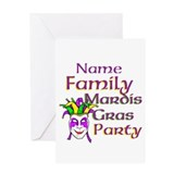 Customizable Mardi Gras Greeting Card