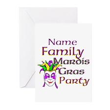 Customizable Mardi Gras Greeting Cards (Pk of 10)