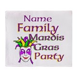 Customizable Mardi Gras Throw Blanket