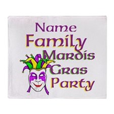 Customizable Mardi Gras Throw Blanket