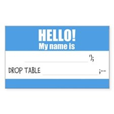 Writable SQLi Name Tag Decal