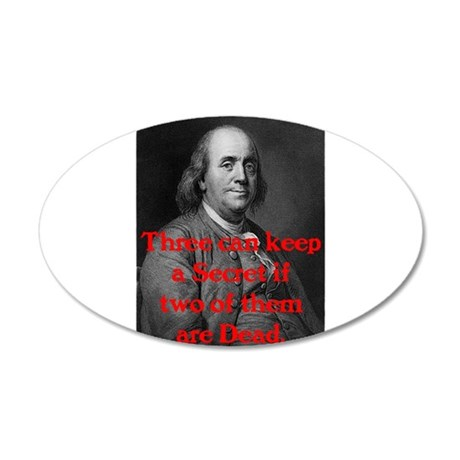 Ben Franklin: Keeping a Secre 22x14 Oval Wall Peel