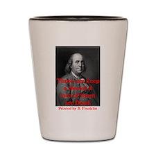 Ben Franklin: Keeping a Secre Shot Glass