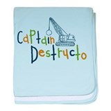 Captain Destructo baby blanket