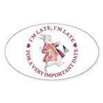 I'm Late, I'm Late! Sticker (Oval 50 pk)