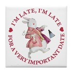 I'm Late, I'm Late! Tile Coaster