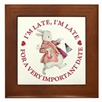 I'm Late, I'm Late! Framed Tile