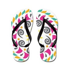 swirly design Flip Flops