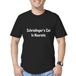 Schrodinger's Cat Is Neurotic Men's Fitted T-Shirt