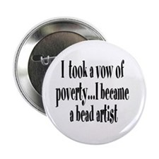 "Vow of Poverty 2.25"" Button (10 pack)"