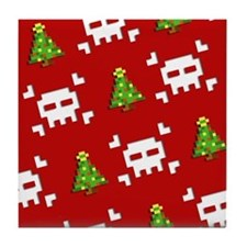 8-Bit Christmas Tile Coaster
