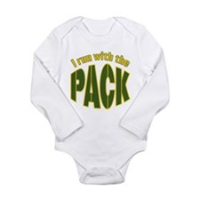I run with The Pack Long Sleeve Infant Bodysuit