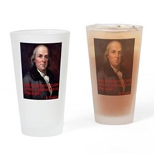 WINE QUOTE™ BEN FRANKLIN Drinking Glass