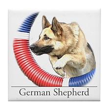 German Shepherd Sketch Tile Coaster