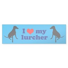 I Love My Lurcher Car Sticker