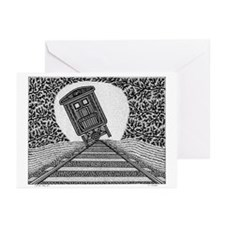 Tipping Train #2 Greeting Cards (Pk of 10)