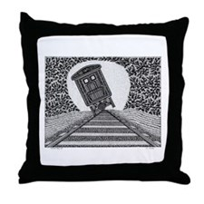 Tipping Train #2 Throw Pillow