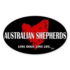 Love Australian Shepherds Decal