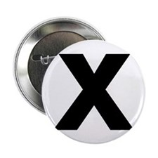 "Letter X 2.25"" Button (100 pack)"