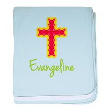 Evangeline Bubble Cross baby blanket