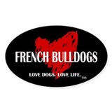 Love French Bulldogs Decal