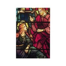 Mary Magdalene and Jesus Rectangle Magnet
