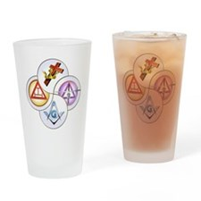 York Rite Swirl Drinking Glass