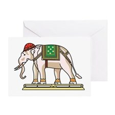 Siam Elephant Flag Greeting Card