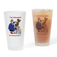 Not a miracle worker Drinking Glass