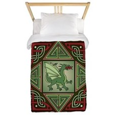 Celtic Dragon Labyrinth Twin Duvet Cover