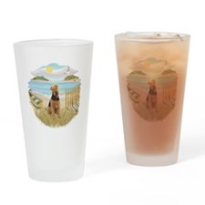 Rowboat - Airedale #1 Drinking Glass