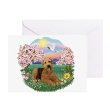 Blossoms / Airedale #5 Greeting Cards (Pk of 10)