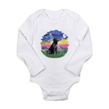 Twilight - Black Lab #3 Long Sleeve Infant Bodysui