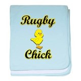 Rugby Chick baby blanket